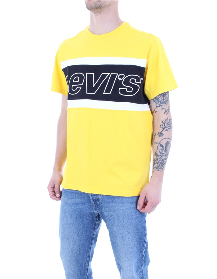 LEVI'S T-shirt Yellow