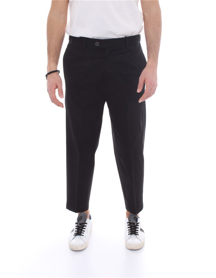 ALESSANDRO DELL'ACQUA Trousers Chino AD7339 P0053E Black