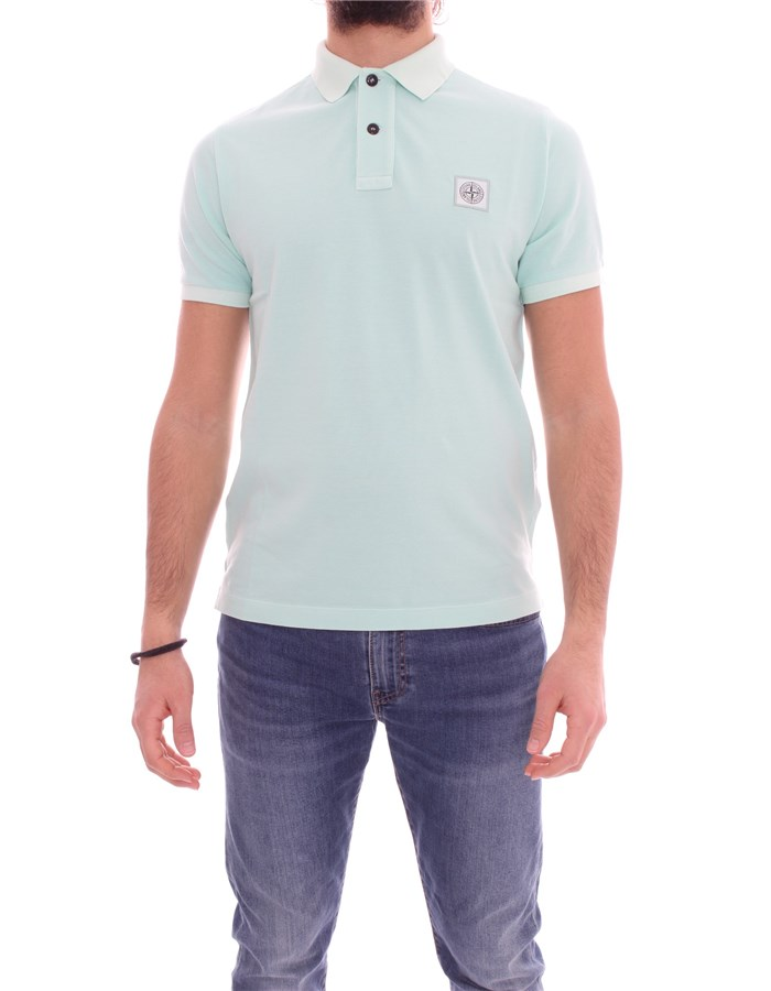 STONE ISLAND Polo shirt Short sleeves 741522S67 water