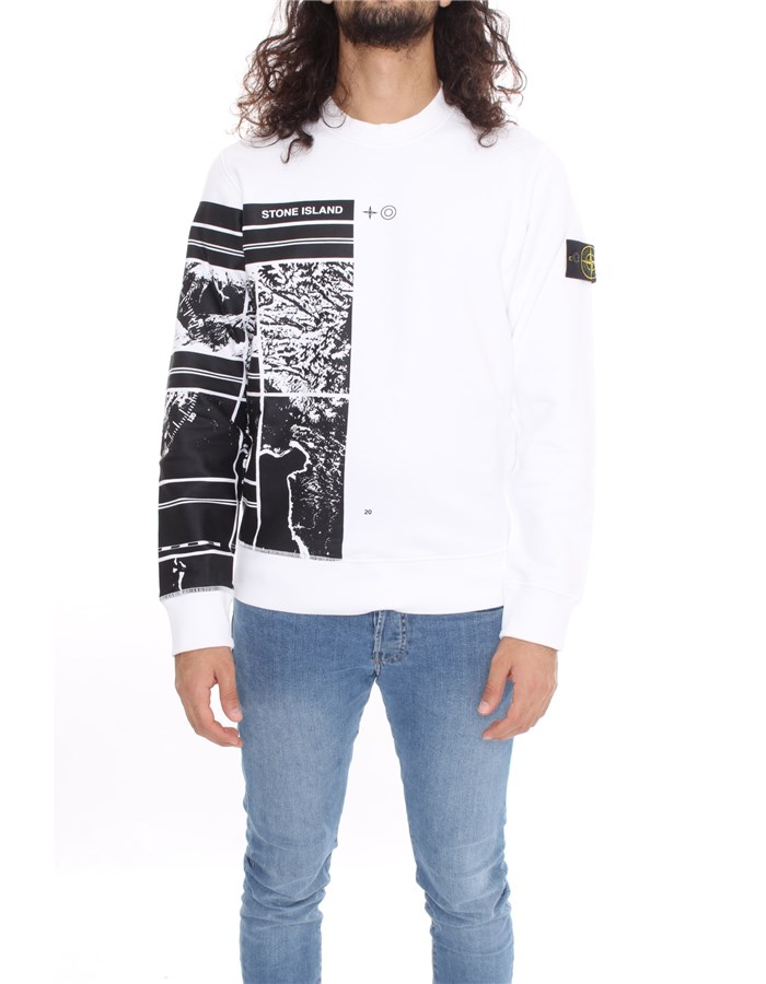 STONE ISLAND Sweat White