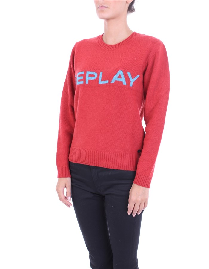 REPLAY Sweater Red