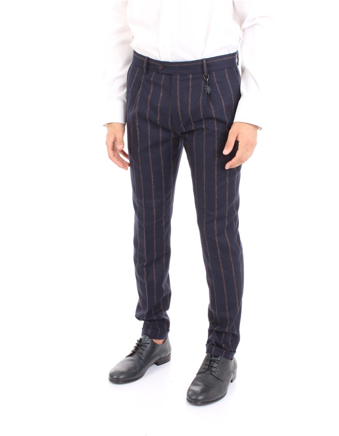 MANUEL RITZ Trousers Blue