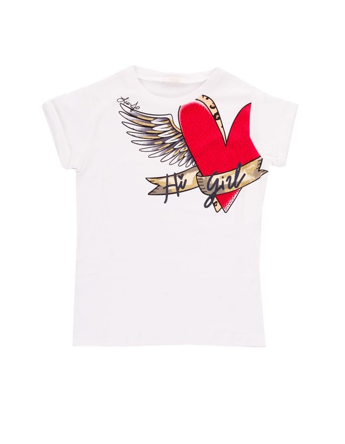 LIU JO Short sleeve White heart