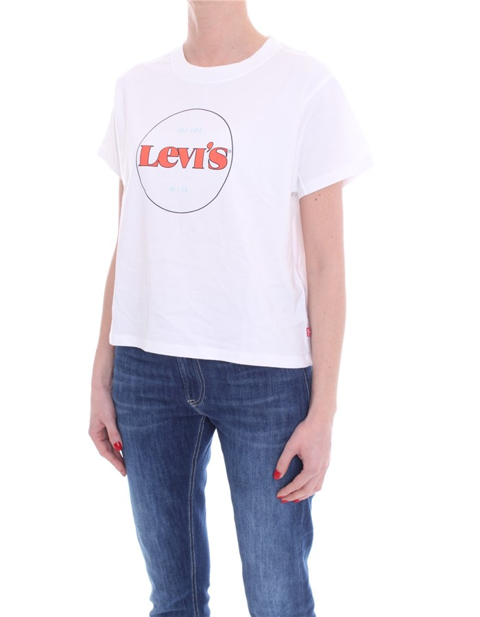 LEVI'S Short sleeve White Red