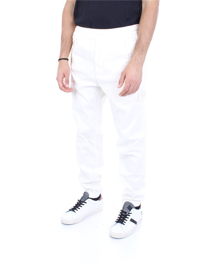 STONE ISLAND Trousers White
