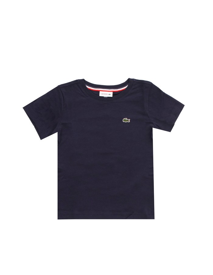 LACOSTE Short sleeves Blue