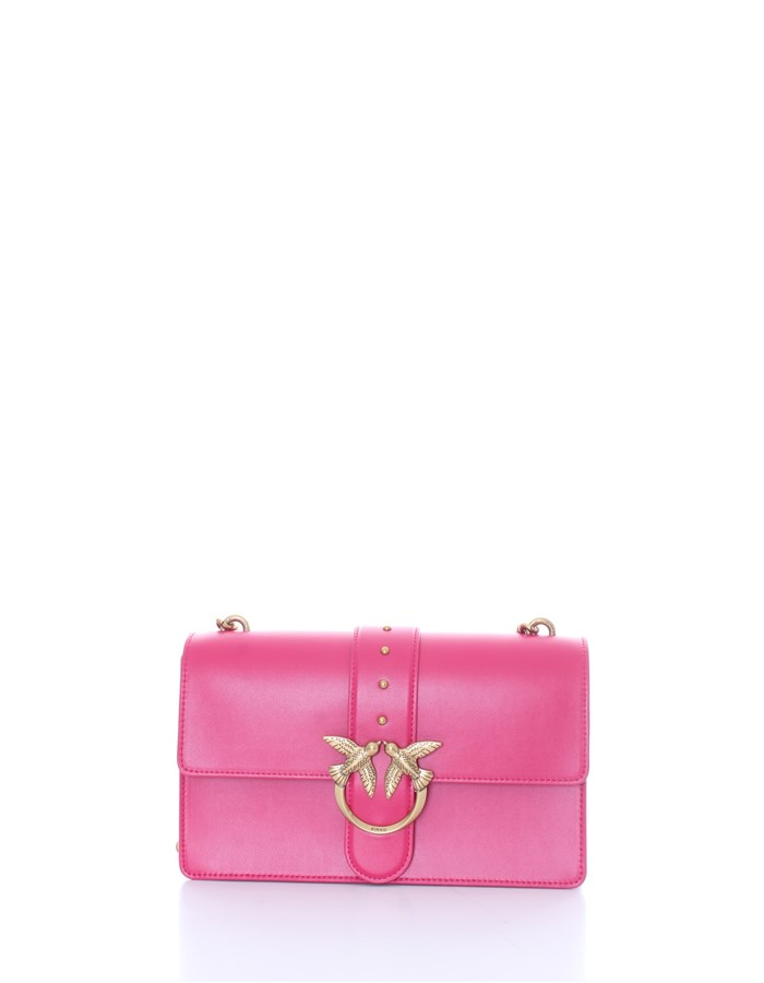 PINKO Shoulder Bags Strawberry