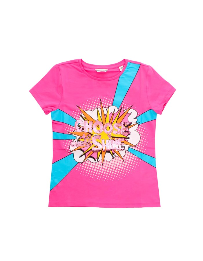 GUESS Short sleeve fuchsia