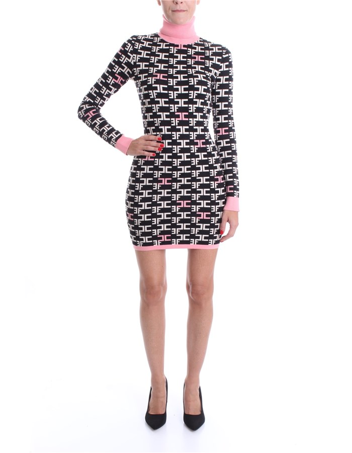 ELISABETTA FRANCHI Dress Black pink