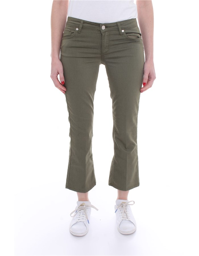 LIU JO Trousers Five pockets WA1113 T7144 Green