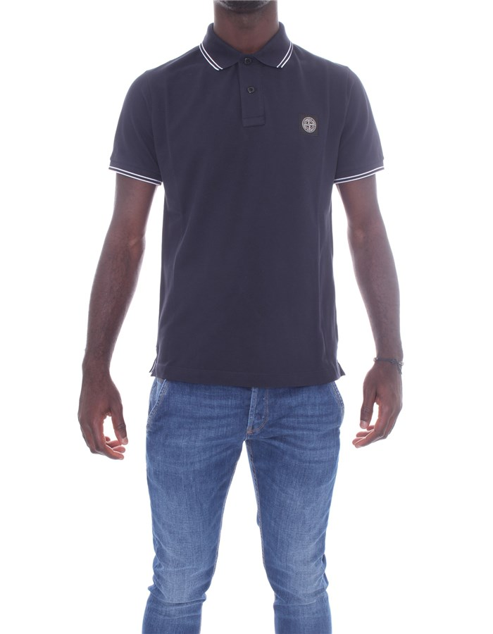 STONE ISLAND Short sleeves Blue
