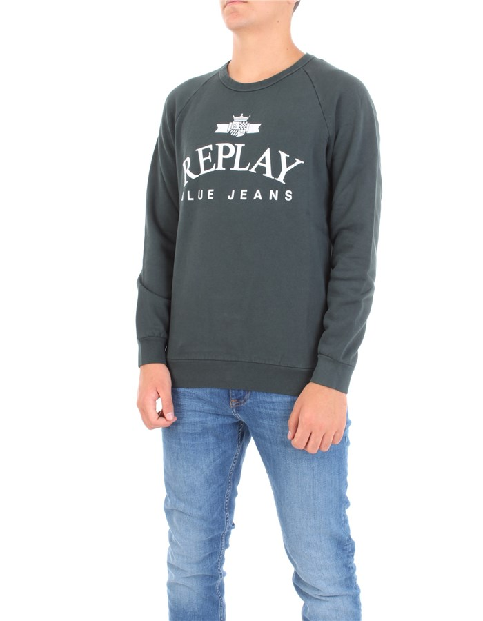 REPLAY Sweatshirt Green