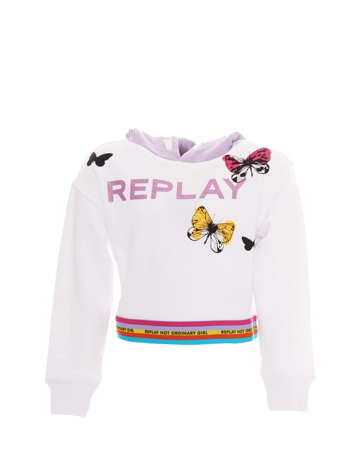 REPLAY KIDS Crewneck  White