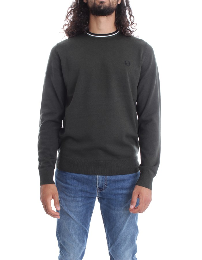 FRED PERRY Sweater Green