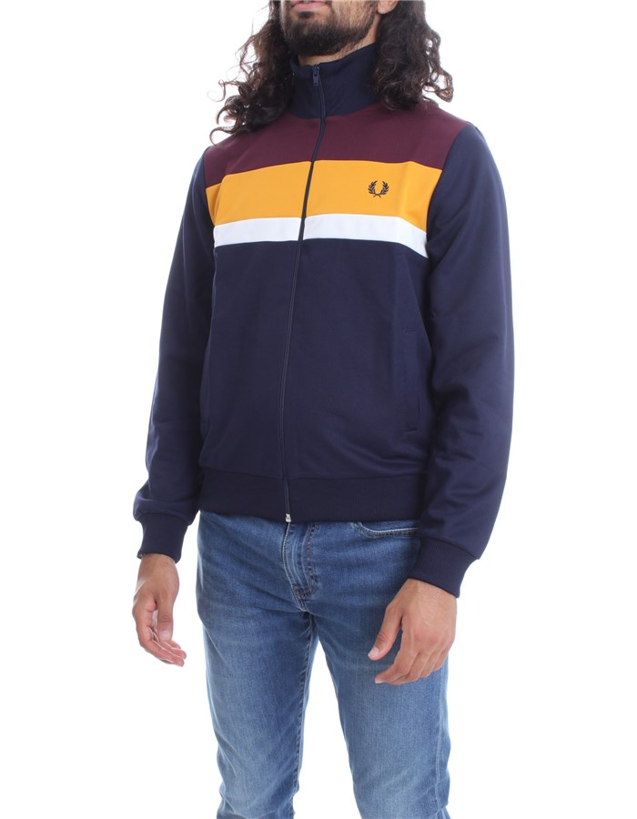 FRED PERRY Sweatshirt Carbon navy