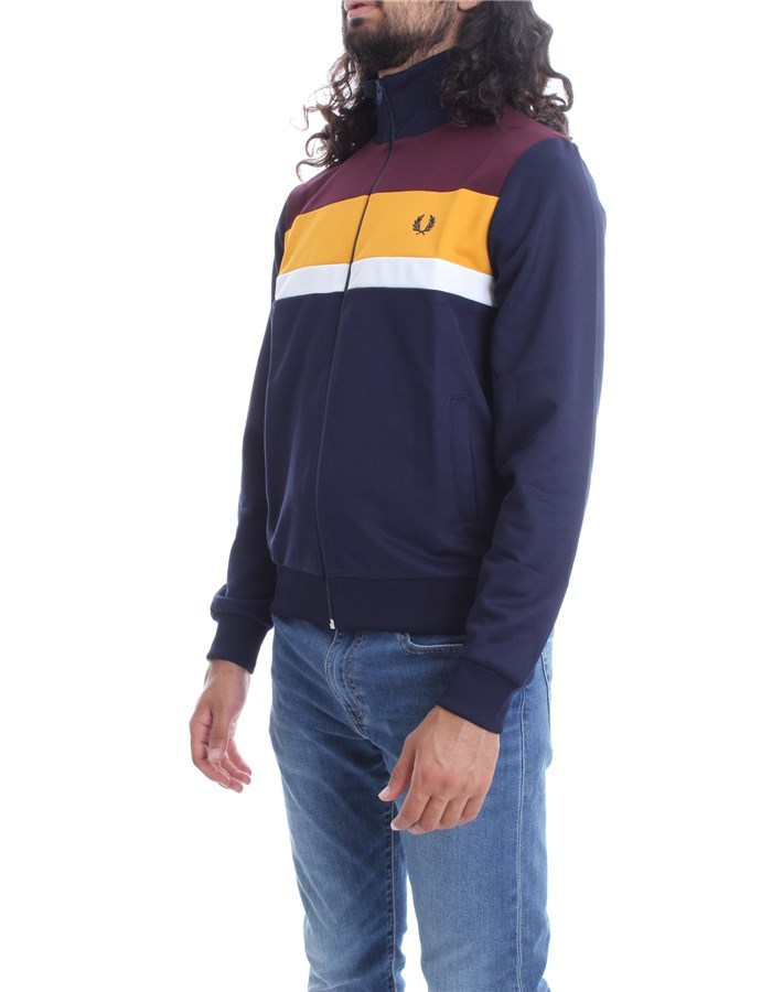 FRED PERRY Sweatshirts  With Zip Men FPJ9543 2
