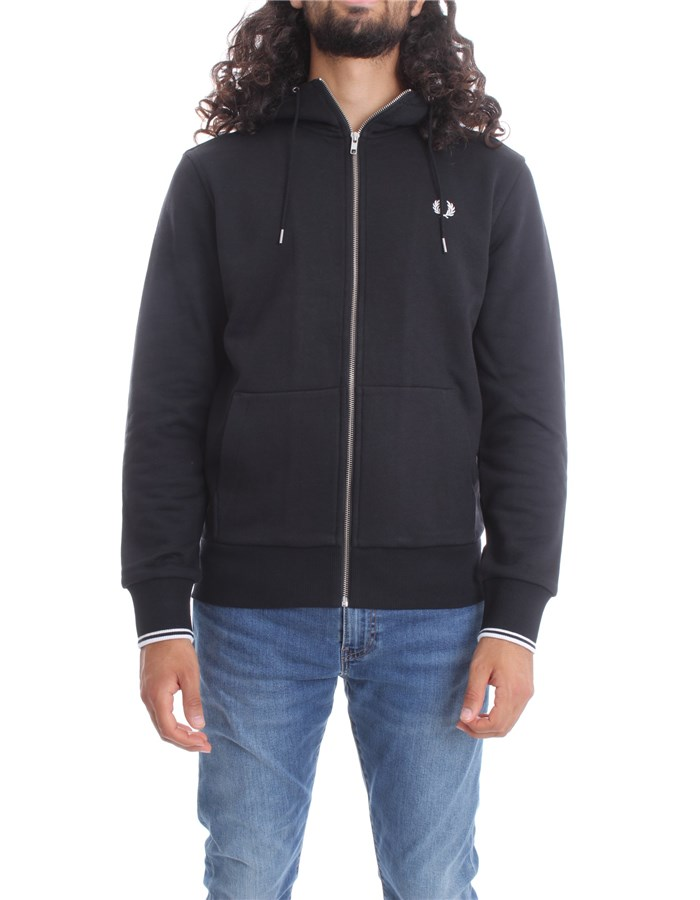 FRED PERRY Sweat Black