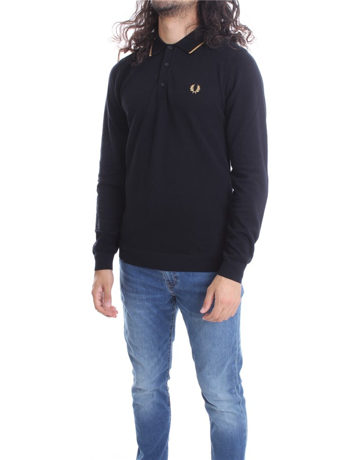 FRED PERRY  Long sleeves Black