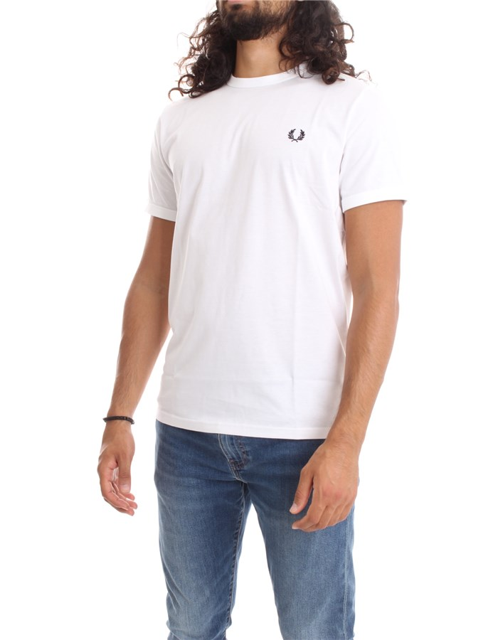 FRED PERRY Short sleeve white