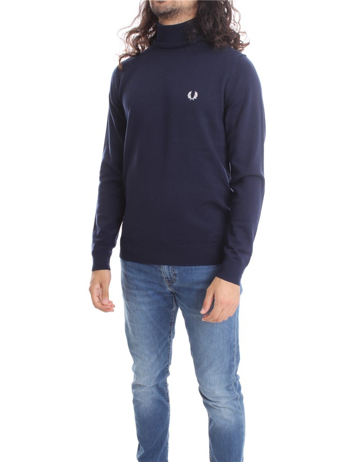 FRED PERRY High Neck  Navy