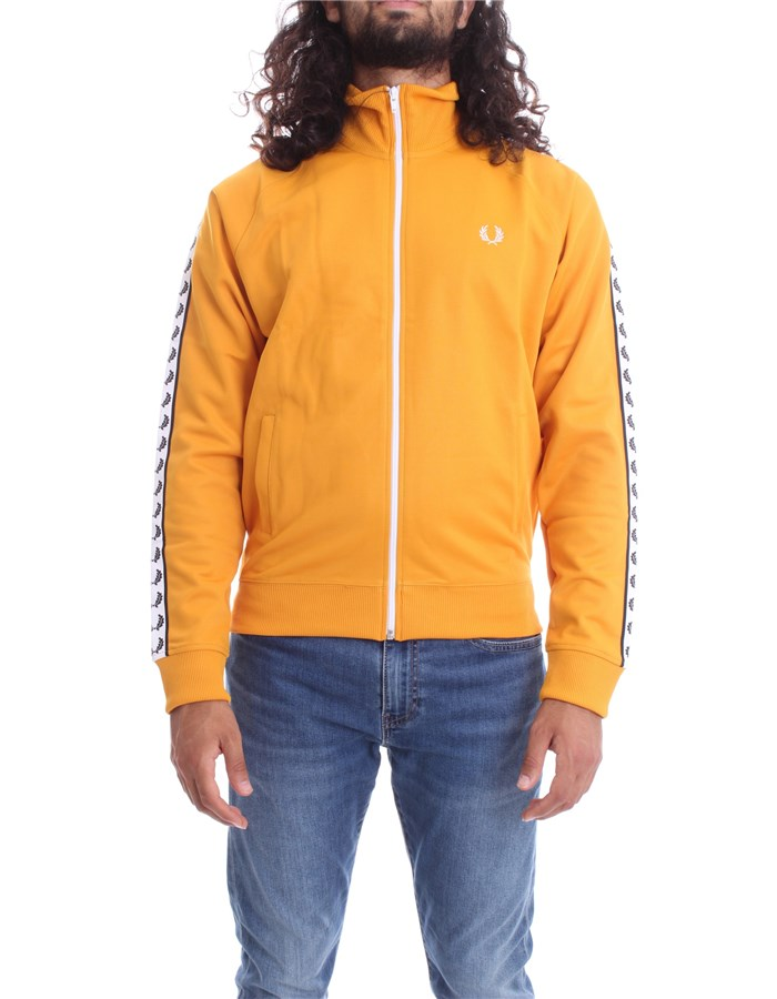 FRED PERRY Sweat Amber