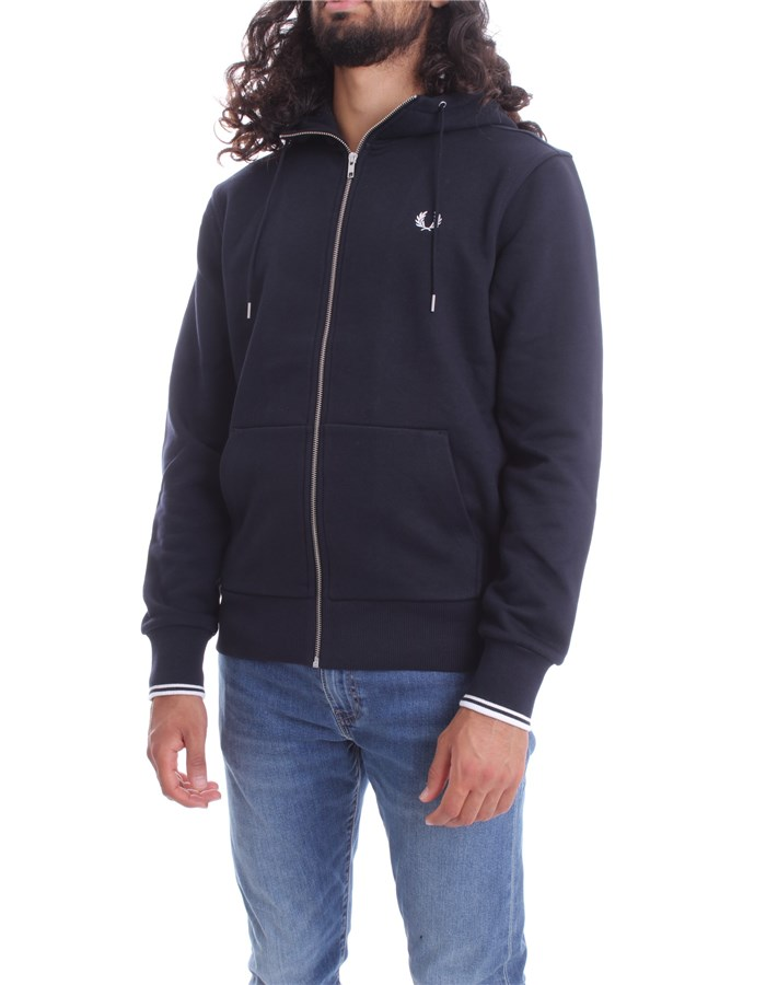 FRED PERRY Sweat Navy