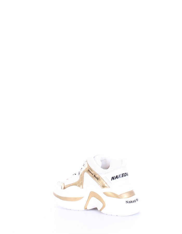 NAKED WOLFE Sneakers White gold