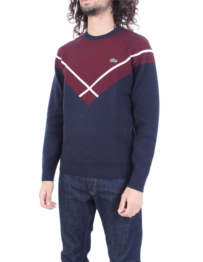 LACOSTE Sweater Blue bordeaux