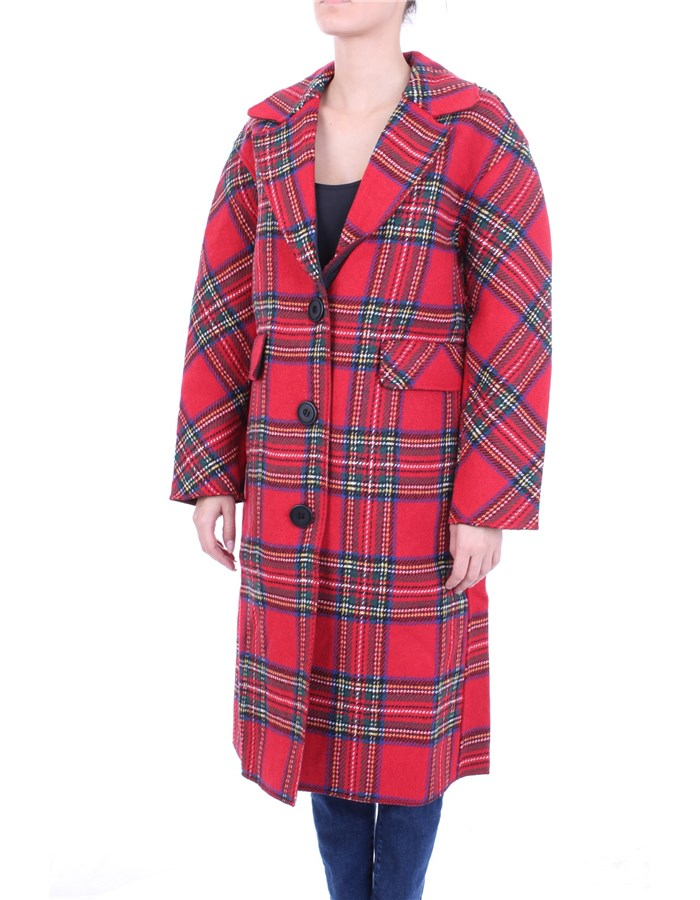 MOLLY BRACKEN Coat red