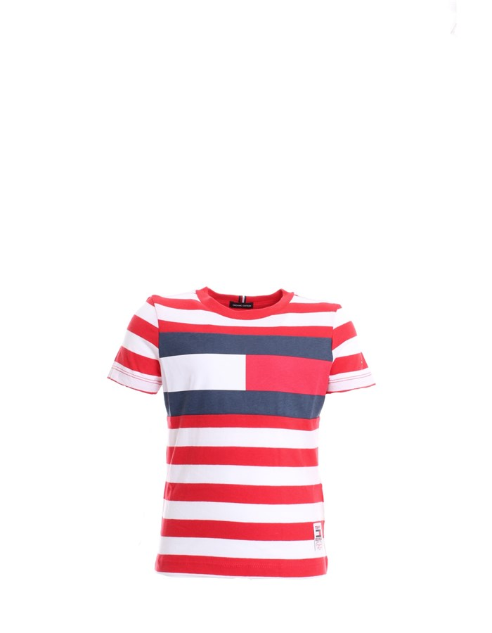 TOMMY HILFIGER T-SHIRT Red line