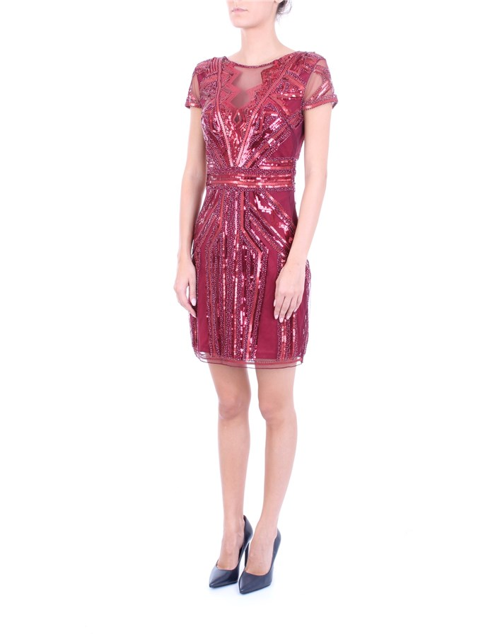 MOLLY BRACKEN Dress Dark red