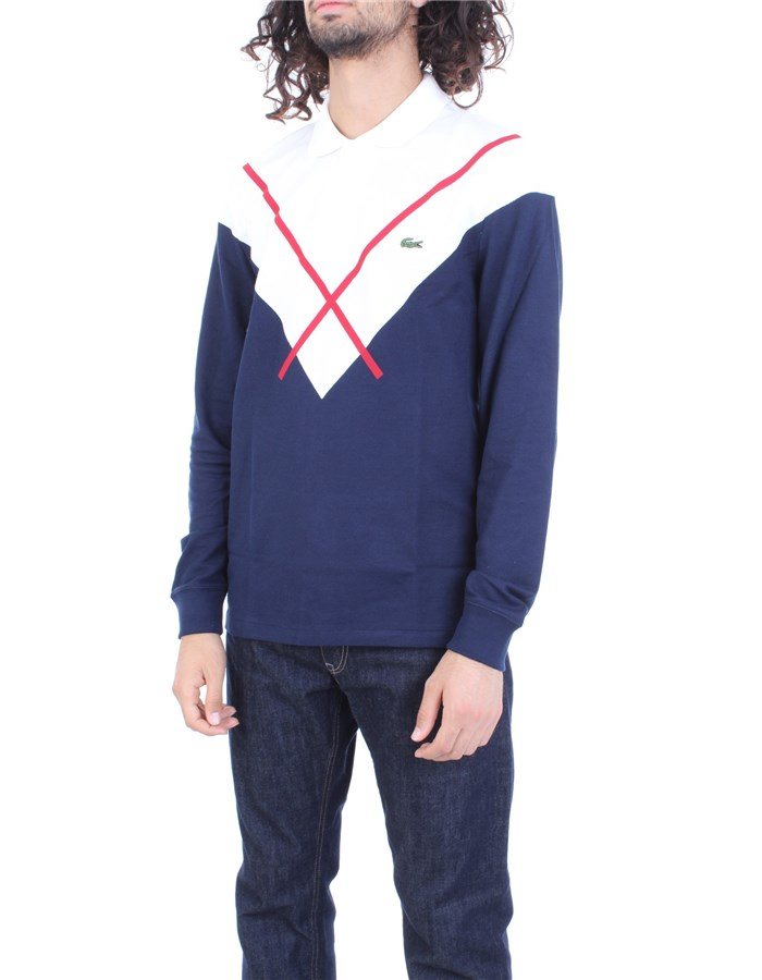 LACOSTE Sweater Blue white