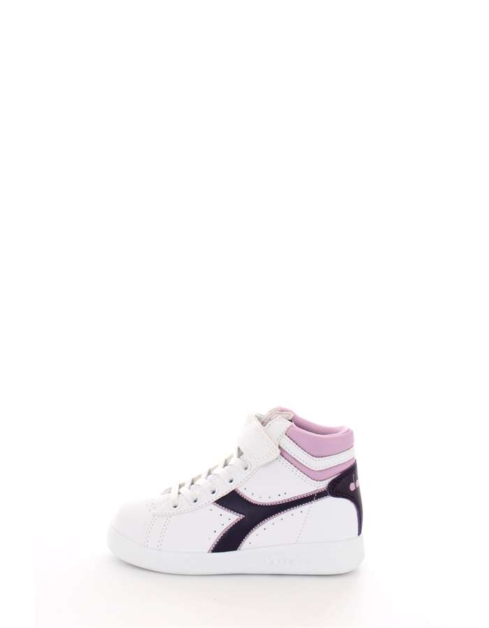 DIADORA Scarpe Bambina Sneakers Bianco GAME P HIGH PS C7630