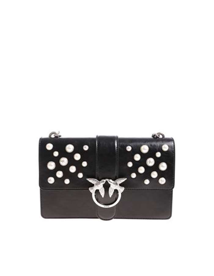 PINKO Accessori Donna Borsa Nero 1P216H Y4YB LOVE LEATHER PEARLS