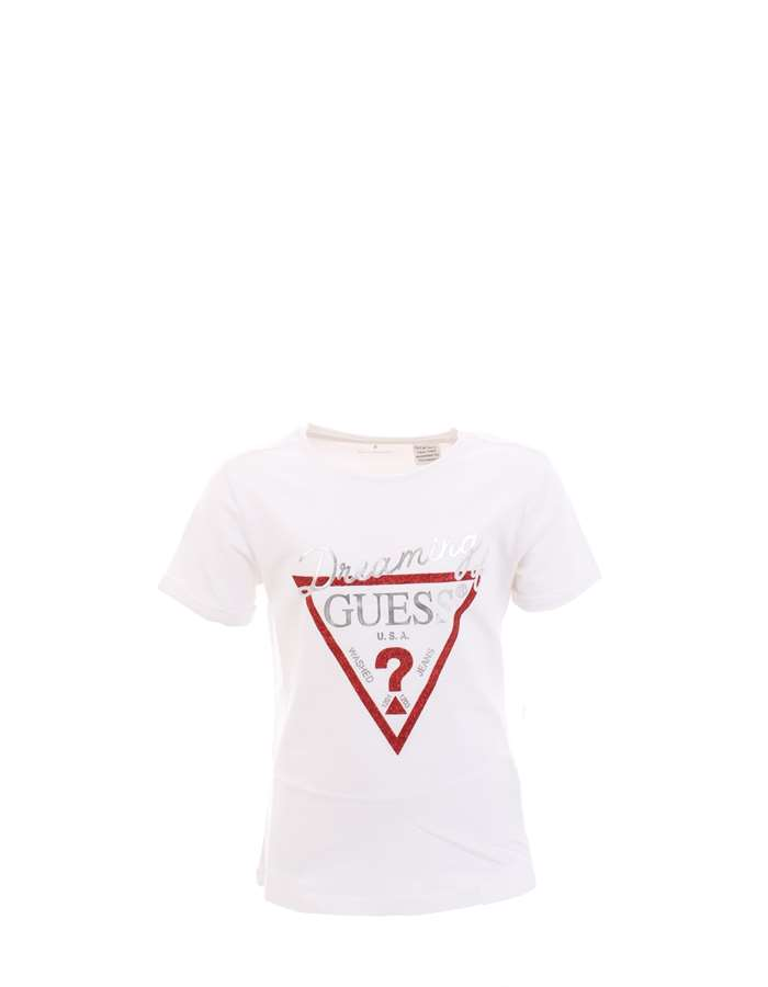 GUESS T-shirt White Red