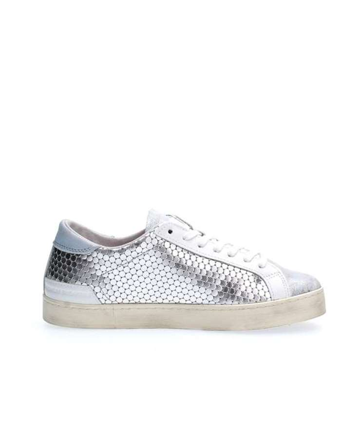 D.A.T.E. Scarpe Donna Sneakers Argento HILL LOW PONG LAMINATED SILER SKY