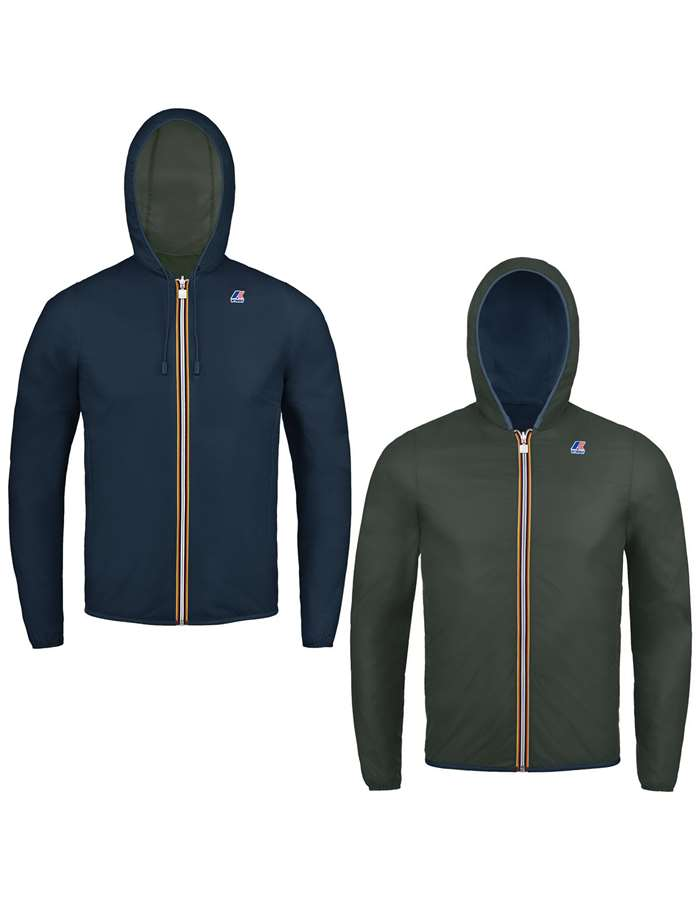 KWAY Giubbotto Blue d-black t