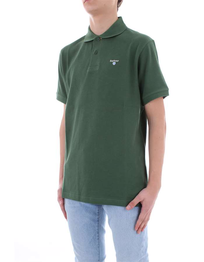 BARBOUR Polo shirt English green