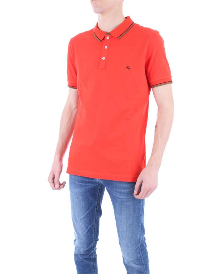 FAY Polo shirt Orange
