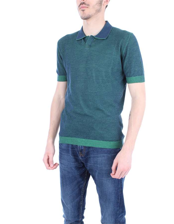 JURTA Polo shirt Green blue