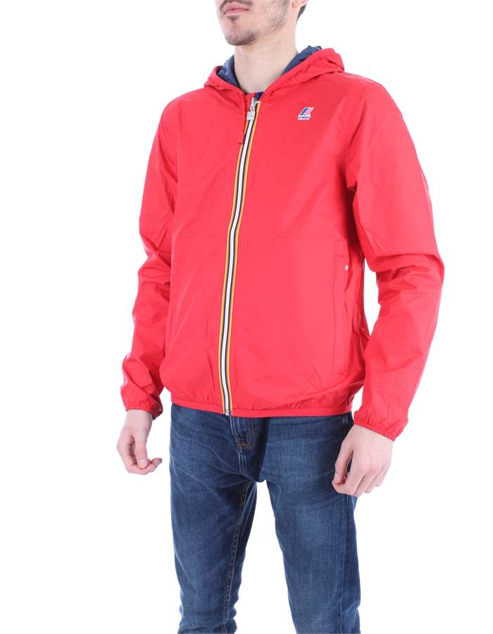 KWAY Coat Blue red