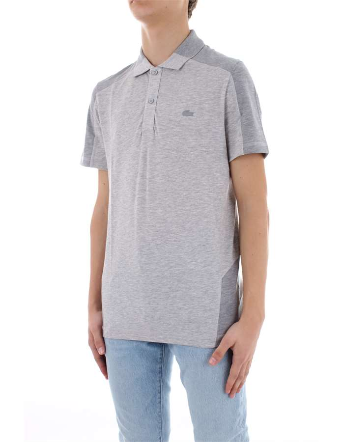 LACOSTE Polo shirt Grey