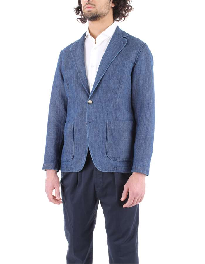 LARDINI Jacket Denim blue