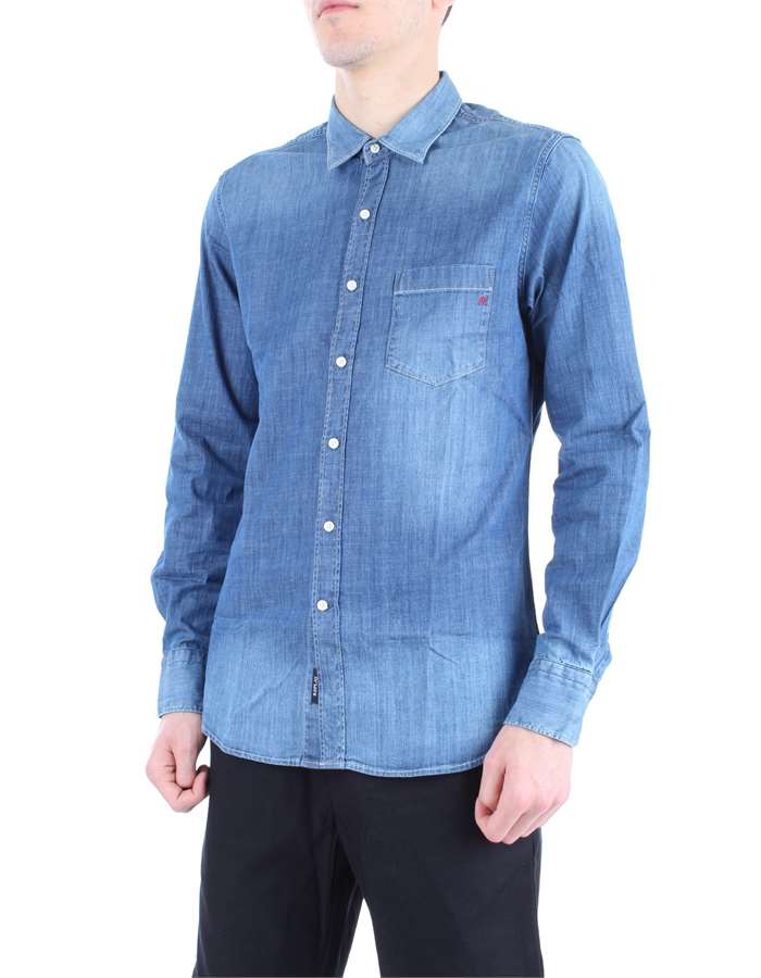 REPLAY Shirt Denim blue