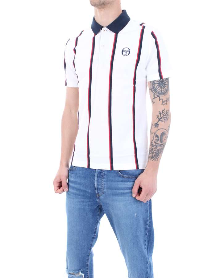 SERGIO TACCHINI Polo shirt White striped