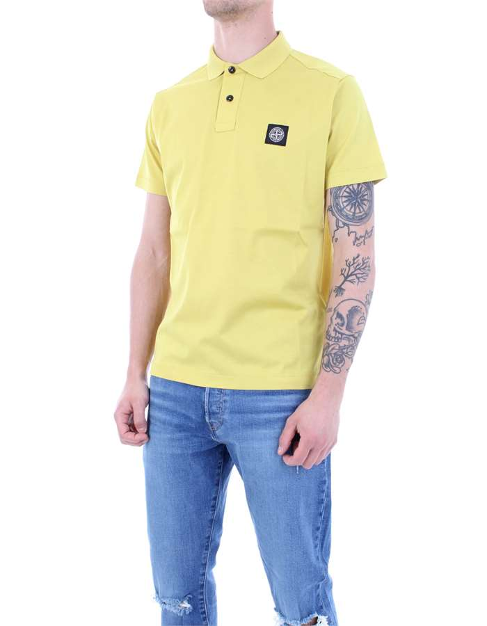 STONE ISLAND Polo shirt Wheat
