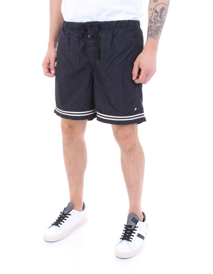 STONE ISLAND Swimsuit Black