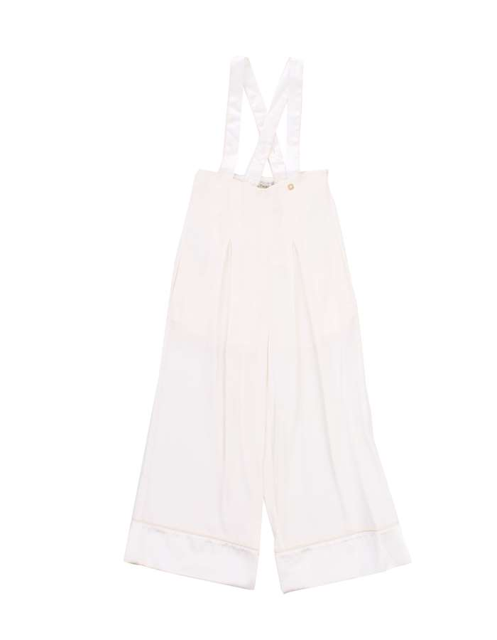 TWIN SET Dungarees White