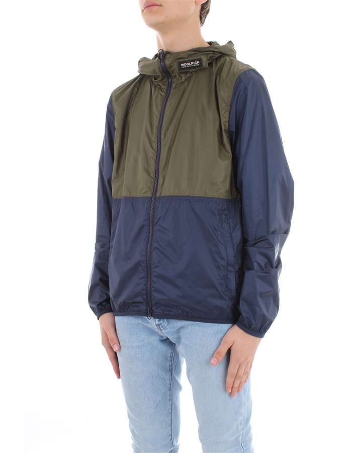 WOOLRICH Coat Green blue