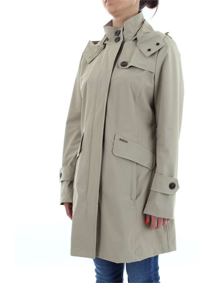 WOOLRICH Coat Light clay